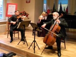 Warszawskie Trio Fortepianowe podczas festiwalu Głuchołaskie Wieczory Chopinowskie 16.10.2010 r.