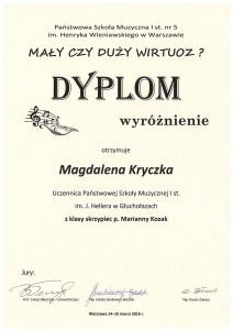 Skrzypce Magdalena K. wyr
