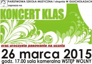 koncert klas 1 2015.